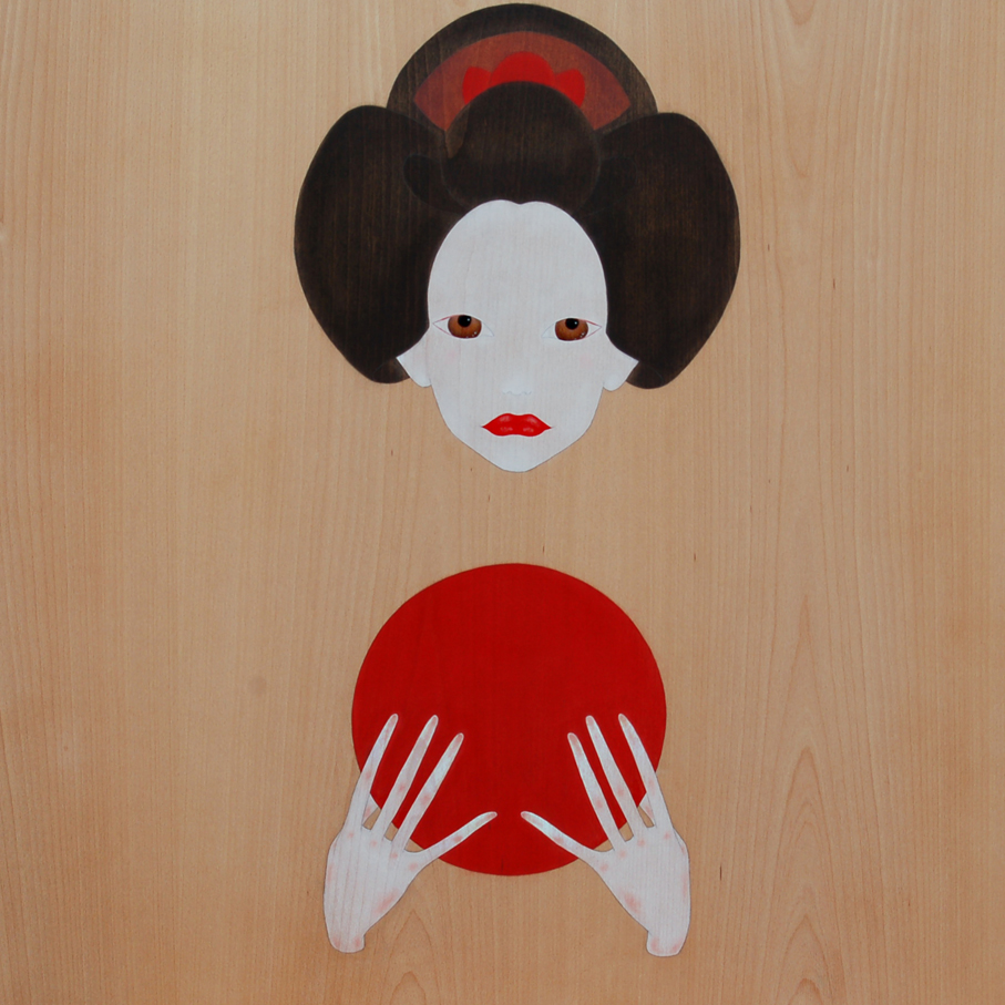 """geisha offering the rising sun"""