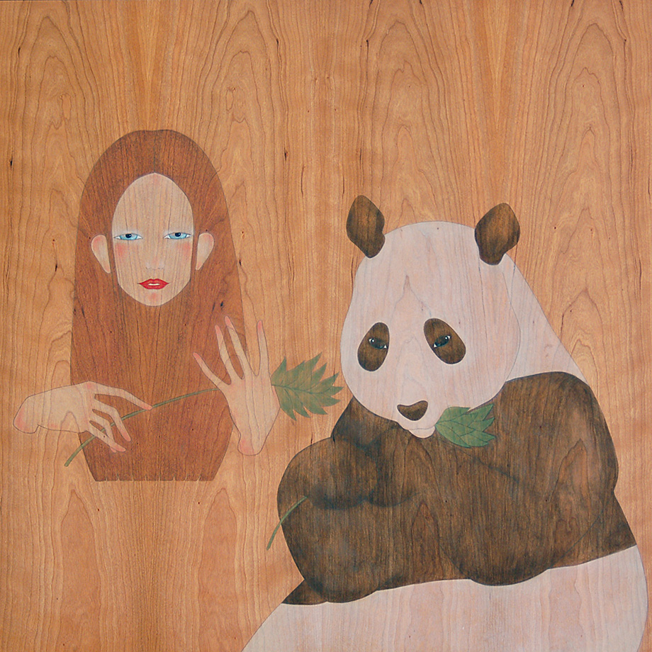 would you like some  bamboo shoots,  panda bear?